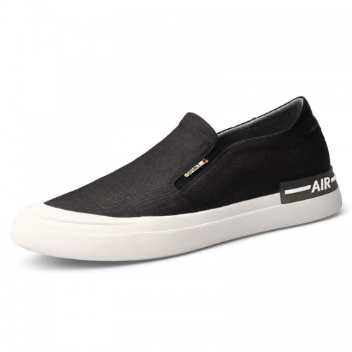 Hidden Lift Classic Canvas Loafers Lightweight Slip On Skateboarding Shoe Increase Height 2.2 inch / 5.5 cm