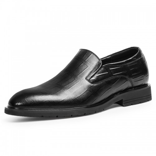 2021 Fashion Taller Men Formal Loafers Add Height 2.4inch / 6cm Soft Cowhide Slip On Tuxedo Shoes