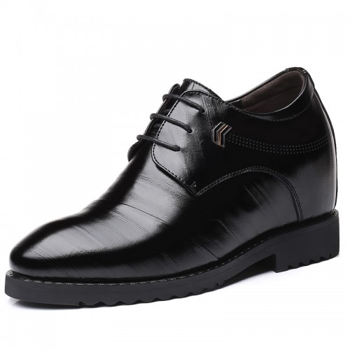 4 inch Height Increasing Shoes Black Elevator Business Formal Dressy Shoes Taller 10cm
