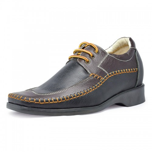 men elevator casual shoes get taller 6.5cm / 2.56inches