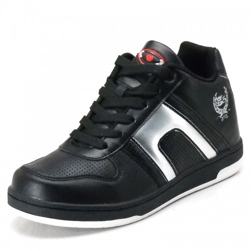 Cow leather casual elevator shoes height increasing shoes 6.5 cm / 2.56 inch heighten shoes