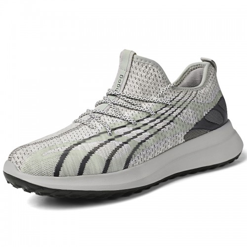 Elevator Flying Shoes Add Height 3.2 inch / 8 cm for Men Lightweight Slip On Fashion Sneakers