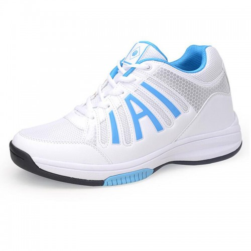 Ultralight fashion height taller 8cm / 3.15inches Sneakers white elevator athletic shoe
