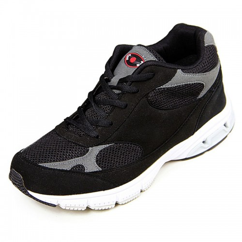 Lightweight mesh elevator fitness shoes that add height 8cm / 3.15inches taller walking shoe