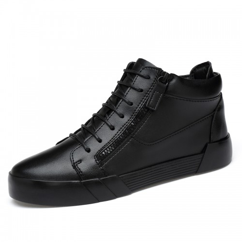 2021 Double Zipped Elevator Shoes Fashion Casual Sneakers Make You Taller 2.4 inch / 6 cm