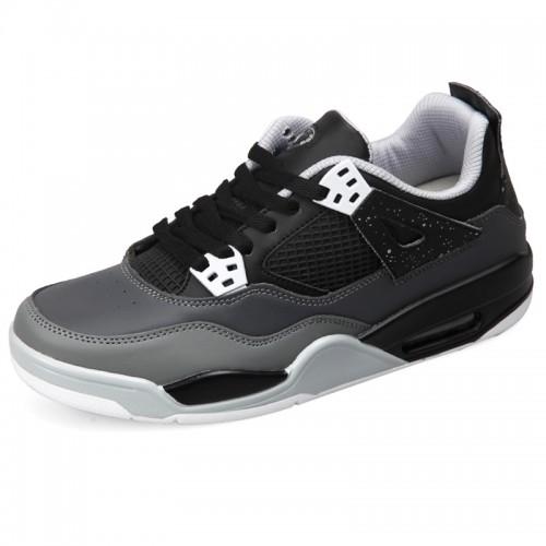 Black Lightweight elevator shock absorption running shoes 6.5cm / 2.56inch