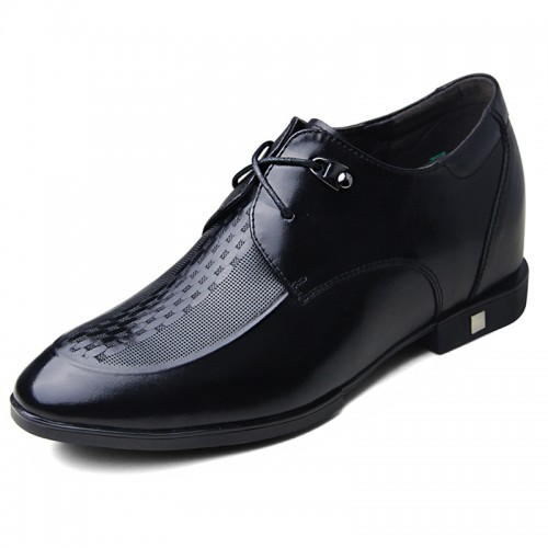 Breathable business formal shoes make you tall 7cm / 2.75inch bridegroom shoes