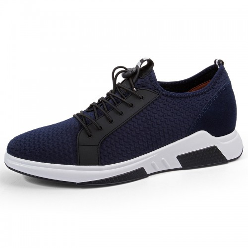 Men Height Increasing Trainers Add Altitude 2.8inch / 7cm elevator fitness shoes