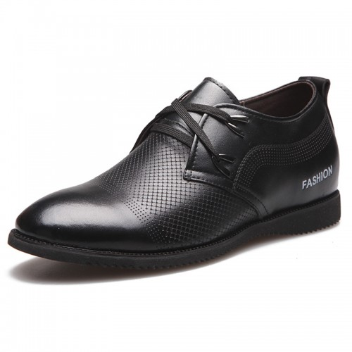 Black elevator doug shoes 6cm / 2.35inches summer hollow casual height shoe