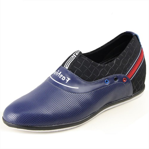 Korean blue height casual shoes add taller 6cm / 2.36inches fashion slip-on leisure shoes
