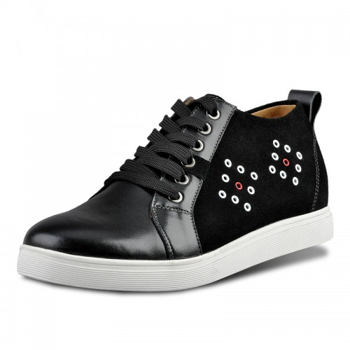 Korean breathable suede casual increasing elevator shoes gain taller 6cm / 2.36inches height