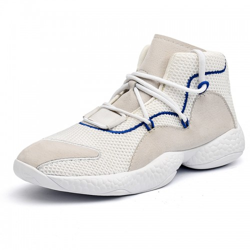 High Top Lifts Sneakers Add Your Height 3.2inch / 8cm Black Breathable Taller Walking Shoes