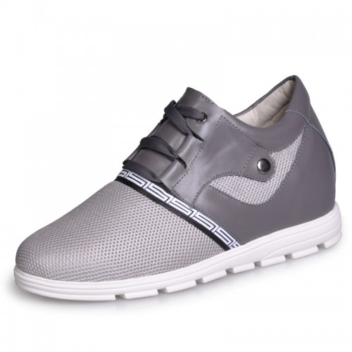 Korean breathable mesh height increasing casual shoes grow taller 7cm / 2.75inches elevator shoes