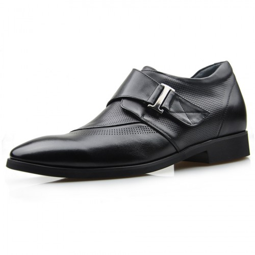 European Pointy Toe Breathable Elevator Dress shoes British height increasing 7cm /2.75inches tide shoe