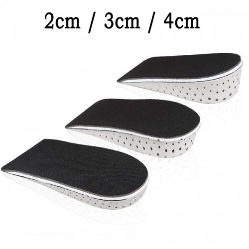 Unisex Memory Foam Height Increase Insole Half Length Heel Lift Insert Breathable Heighten Cushion Pad