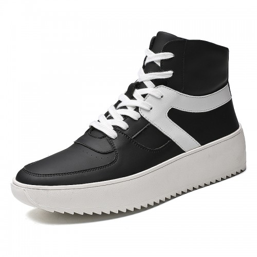 High Top Height Elevator Skateboarding Shoes for Men Taller 3.5inch / 9cm Anti-Slip Sneakers