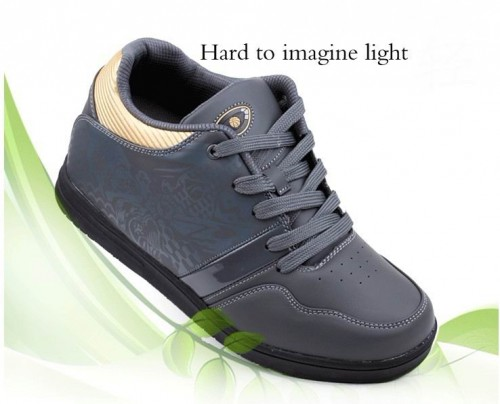 Gray Quality Height increasing elevator shoes/elevated height increase growth taller 7cm/2.75inch