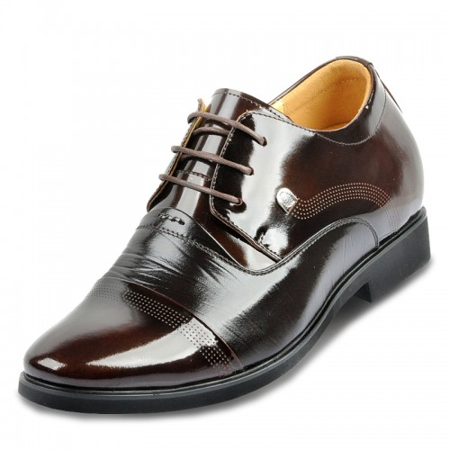 Make you taller 2.75inches / 7cm lace up mens leather formal heighten shoe