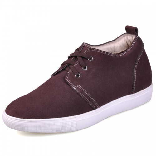 Best brown height increasing casual shoes increase your height 6cm / 2.36inches