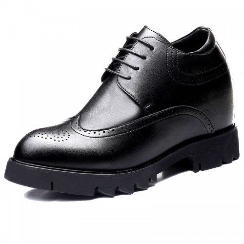 Wing Tip Height Elevator Brogue Shoes Make You Look Taller 4.7 inch / 12 cm