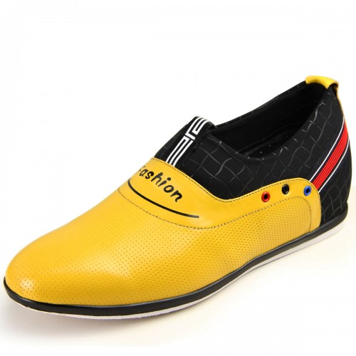 Korean yellow enhancing height shoes add altitude 6cm / 2.36inches fashion slip-on leisure shoes