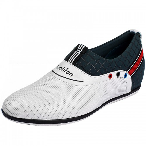 Korean white lifts for shoes men height enhancing 6cm / 2.36inches ventilate casual shoes