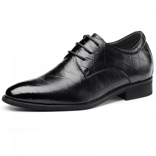 Designer Elevator Pointy Toe Tuxedo Shoes for Men Balck Taller Prom Dress shoes