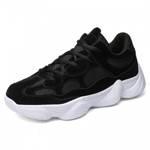 Summer Elevator Casual Sneakers Black Korean Hidden Lifts Shoes Height 2.8inch / 7cm
