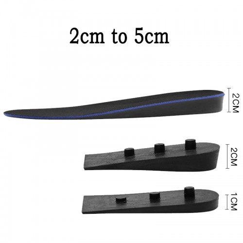 Adjustable Height Increasing Insole Breathable Comfort Full Length Shoe inserts get taller 2cm to 5cm