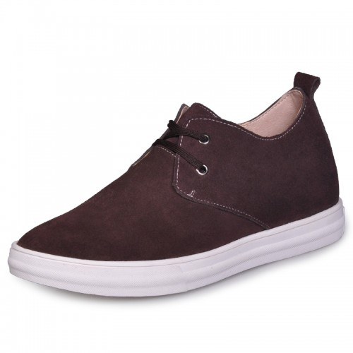 Coffee British add height shoes elevator board shoe become height 6cm / 2.36inches