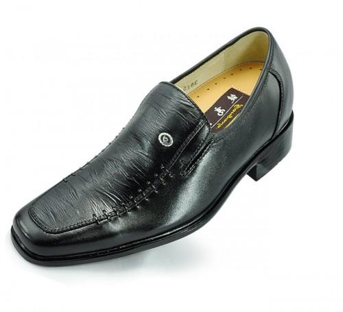 Men's slip-on elevating dress shoes make you look taller 7cm / 2.75inchs height loafer