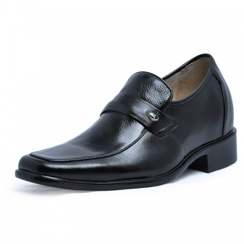 Fashion dress leather lift shoes for men increase height 7cm / 2.75inchs