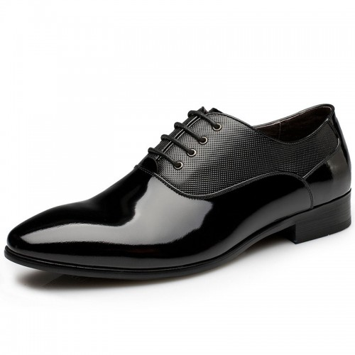 Luxury Elevator Marriage Shoes Men Business Formal Oxford shoe Add Height 6cm / 2.36inches