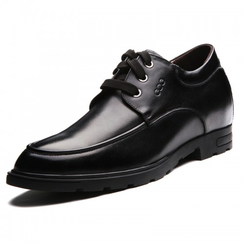 Men elevator derby shoes be taller 6.5cm / 2.56inches British height increasing formal shoes