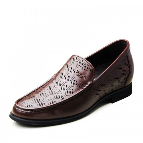 Fashion British slip-on men tall sandals increase height 6.5cm / 2.56inches formal shoes