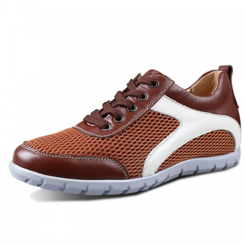 mesh sports shoes get height 6cm / 2.36inches leisure elevator shoes