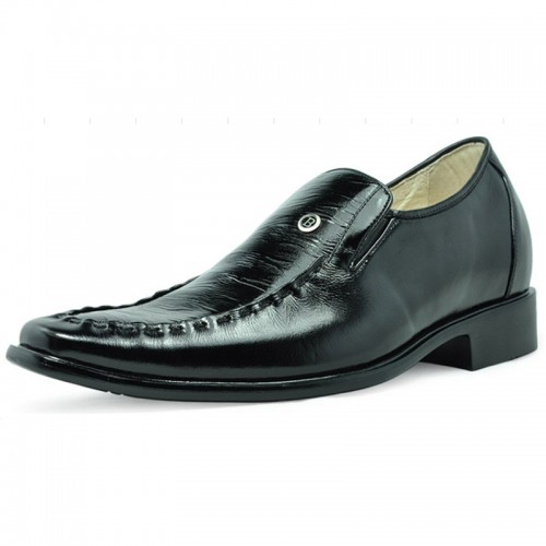 Black men height increasing dress shoes can be taller 7cm / 2.75inches