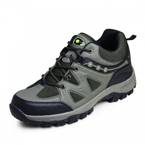 Army green Outdoor Elevator Hiking shoes that give you height 7.5cm / 2.95inches taller neakers