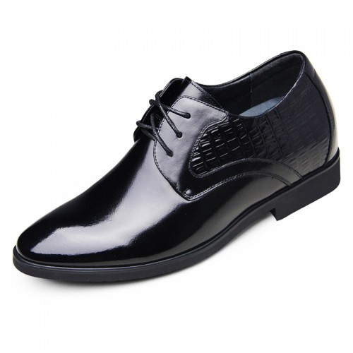 Graduations elevator shoes 6.5cm / 2.56inches height increase breathable formal leather oxford shoes