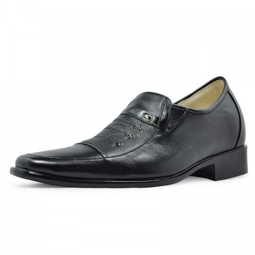 Genuine leather Upper high heel dress elevator shoes for men 7cm/2.75inch taller shoes