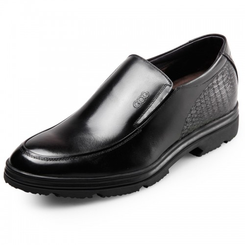Winter height increasing dress shoes elevator formal loafers 2.6inch / 6.5cm