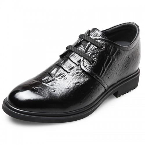 Designer Croc print soft calfskin height taller shoes 2.6inch / 6.5cm