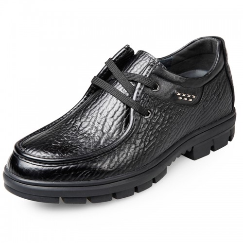 Trendy Elevator Business Casual Shoes Make You Taller 2.6inch / 6.5cm Black
