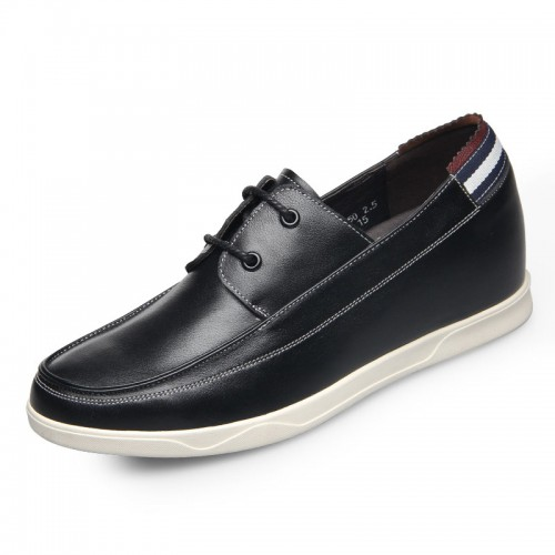 Ultra light cowhide elevator casual shoes for men