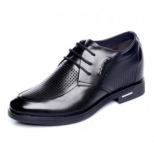Summer extra taller 8cm / 3.15inch men dress sandals black lace up oxfords