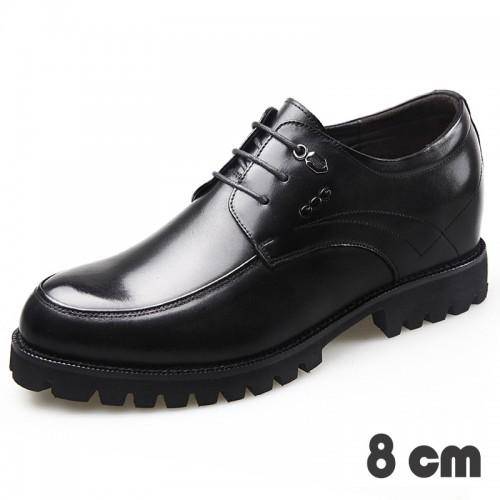 8cm taller wedding shoes for men Polished upper formal shoes height 3.2inch