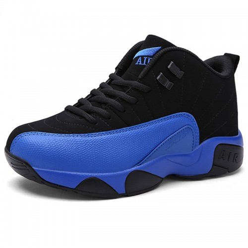 Height Increasing Basketball Shoes  2.8inch / 7cm Blue Taller Sports Shoes