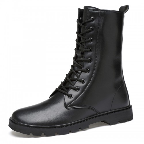 Height Increasing Men's Riding Boot Elevator Motorcycle Boots Add Your Taller 2.6 inch / 6.5 cm