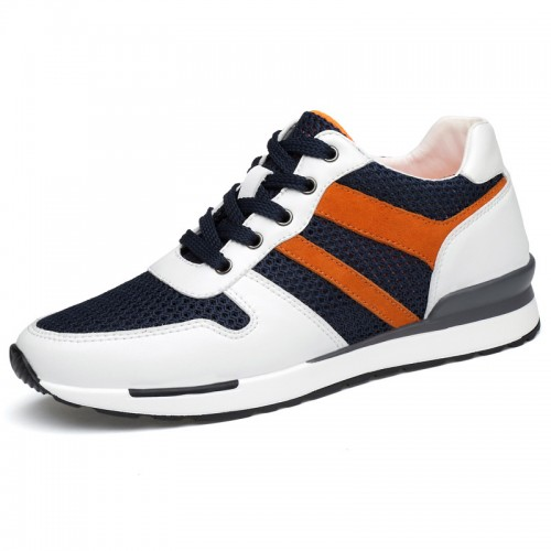 Korean Fashion Sneakers Elevator Shoes 2.6inch / 6.5cm Taller Casual Sports Shoes