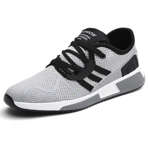 Men's Elevator Casual Mesh Sneakers Taller 2.2inch / 5.5cm Breathable Sports Shoes